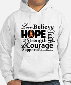 Leukemia Hope Collage Hoodie