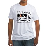 Leukemia Hope Collage Fitted T-Shirt