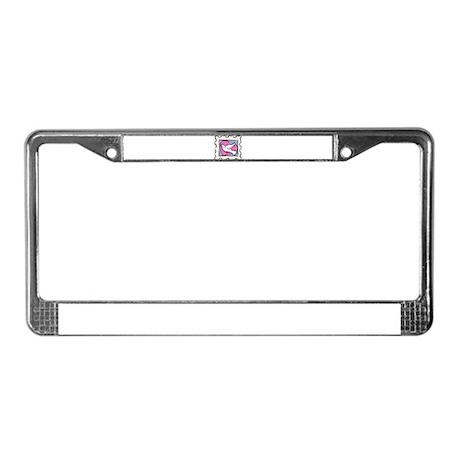 VALENTINE STAMP : DOVE License Plate Frame