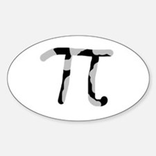 Simply Cow Pi Oval Decal
