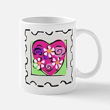 VALENTINE STAMP : flowers Mug