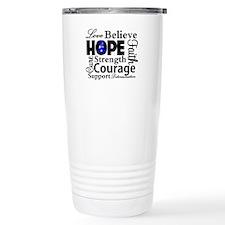 Colon Cancer Hope Collage Travel Mug