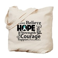 Cervical Cancer Hope Collage Tote Bag