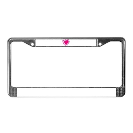HEART {21} : pink License Plate Frame