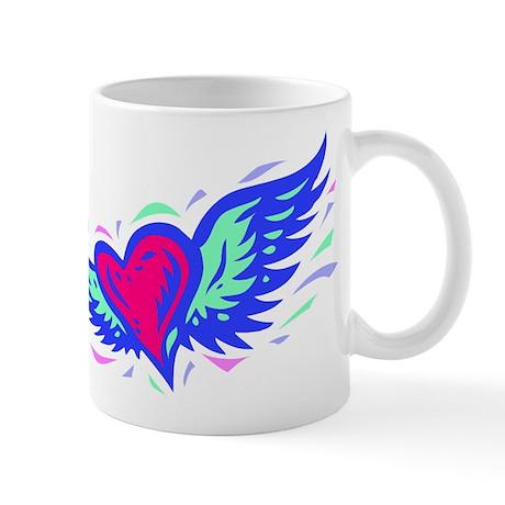 HEART & WINGS {1} : blue/pink Mug