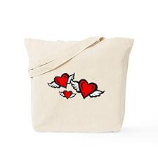 HEART & WINGS {2} : red Tote Bag