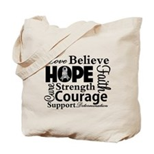 Brain Cancer Hope Collage Tote Bag
