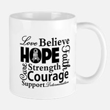 Brain Cancer Hope Collage Mug