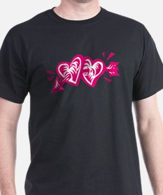 HEART & ARROW {8} : pink/whit T-Shirt