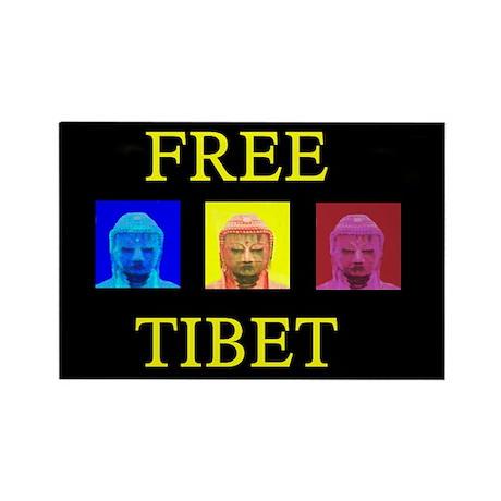 Tibet Liberation Rectangle Magnet
