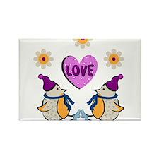 LOVE PENQUINS Rectangle Magnet