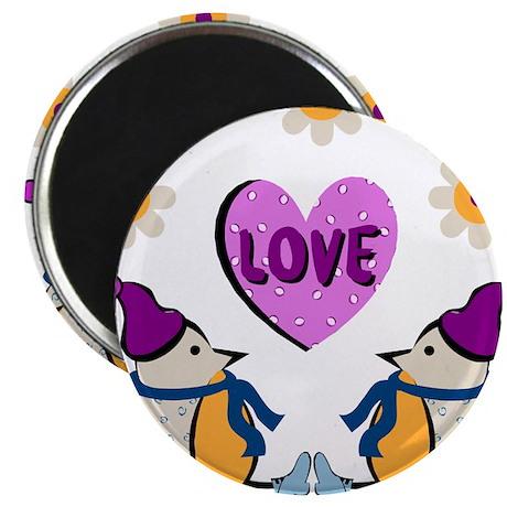 """LOVE PENQUINS 2.25"""" Magnet (10 pack)"""