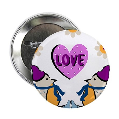 "LOVE PENQUINS 2.25"" Button (10 pack)"