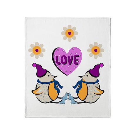 LOVE PENQUINS Throw Blanket