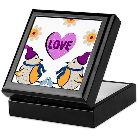 LOVE PENQUINS Keepsake Box
