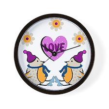 LOVE PENQUINS Wall Clock
