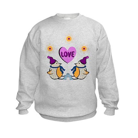 LOVE PENQUINS Kids Sweatshirt