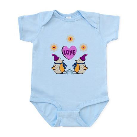 LOVE PENQUINS Infant Bodysuit