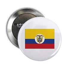 """Colombia Naval Ensign 2.25"""" Button"""
