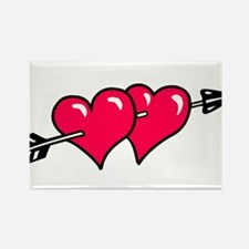 HEART & ARROW {10} : red Rectangle Magnet