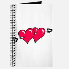 HEART & ARROW {10} : red Journal