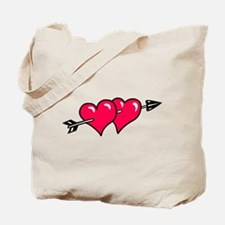 HEART & ARROW {10} : red Tote Bag