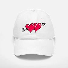 HEART & ARROW {10} : red Baseball Baseball Cap