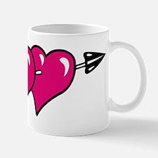 HEARTS & ARROW {10} : pink Mug