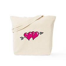 HEARTS & ARROW {10} : pink Tote Bag