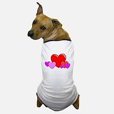 HEARTS {25} Dog T-Shirt