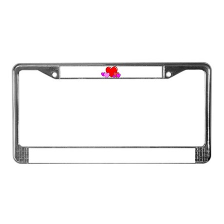 HEARTS {25} License Plate Frame