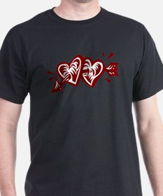 HEARTS & ARROW {11} : pink/wh T-Shirt