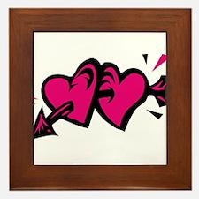 HEARTS & ARROW {11} : pink/bl Framed Tile