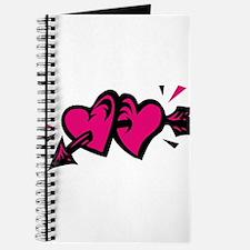 HEARTS & ARROW {11} : pink/bl Journal