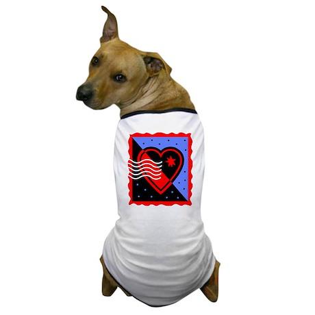 VALENTINES STAMP : heart Dog T-Shirt