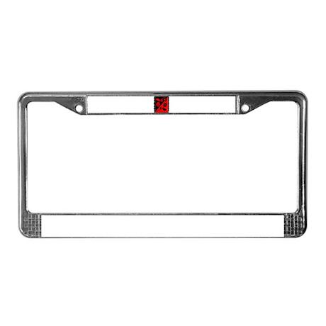VALENTINE STAMP : red roses License Plate Frame