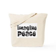 Imagine Peace Tote Bag (blk satin)