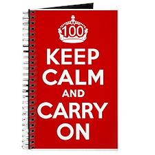 100th Birthday Keep Calm Journal