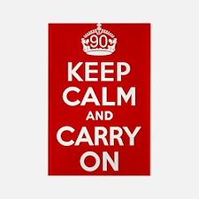 90th Birthday Keep Calm Rectangle Magnet