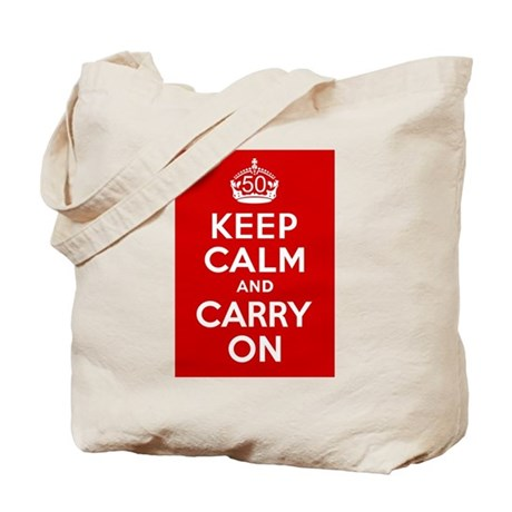 50th Birthday Keep Calm Tote Bag