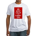 50th Birthday Keep Calm Fitted T-Shirt