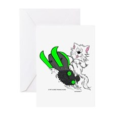 Catoons™ Snowmobile Cat Greeting Card