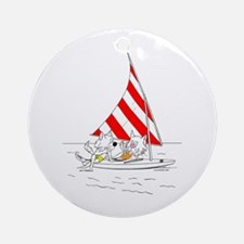 Catoons™ Sailboat Cats Ornament (Round)