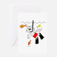Catoons™ Snorkle Cat Greeting Card