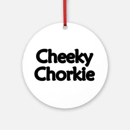 Cheeky Chorkie Ornament (Round)
