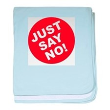 Just Say No! baby blanket