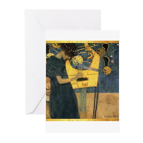 Gustav Klimt 'Music' Greeting Cards (Pk of 20)