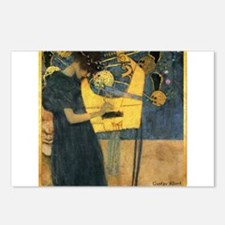 Gustav Klimt 'Music' Postcards (Package of 8)