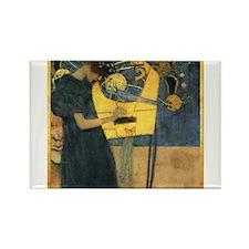 Gustav Klimt 'Music' Rectangle Magnet