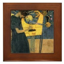 Gustav Klimt 'Music' Framed Tile